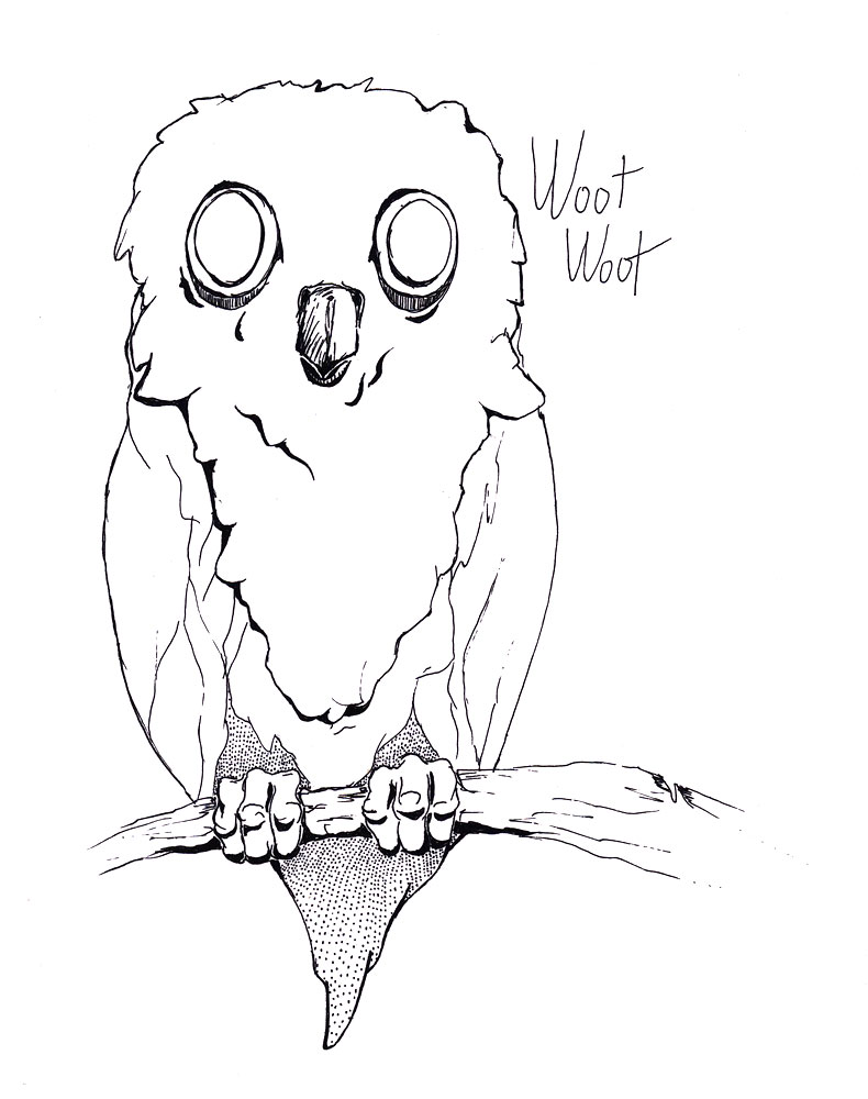 Owl clip art creepy. Scary drawing at getdrawings