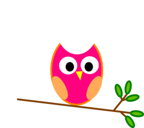 Owl clip art cute. Pink at clker com
