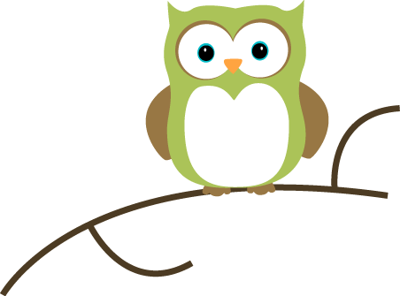 Owl clip art cute. Images on a branch