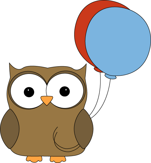 Owl clip art cute. Images brown with balloons