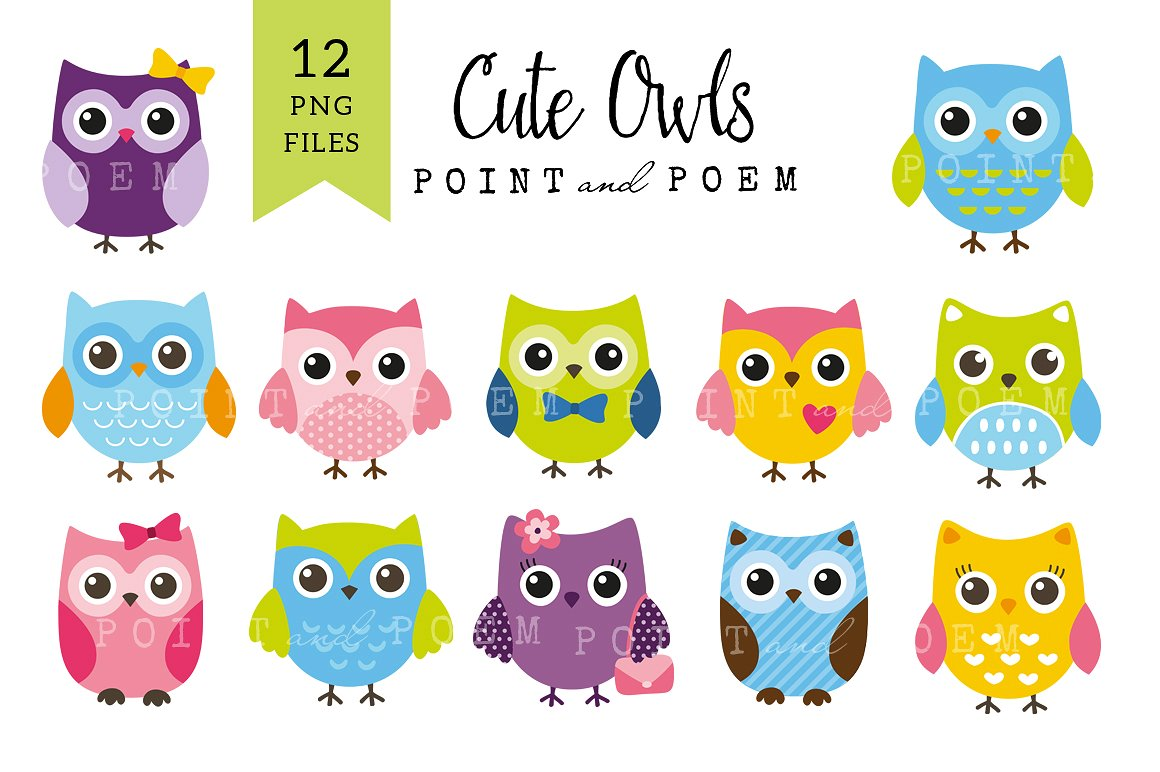 Owl clip art cute. Off owls illustrations