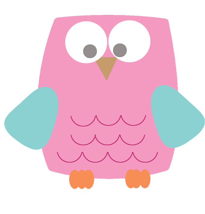 Owl clip art jpeg. Pink drawing girly picture