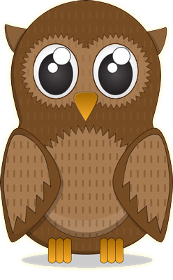 Owl clip art realistic. Free cute cartoon