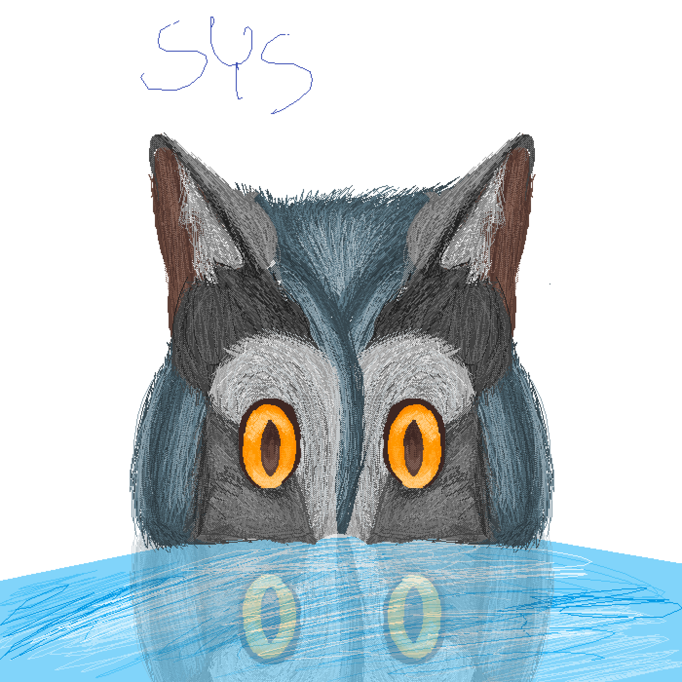 Semi drawing realistic. Pixilart cat cowl owl