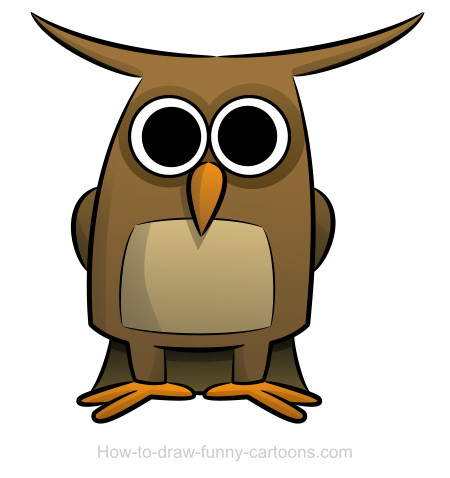 Owl clip art realistic. Drawings sketching vector