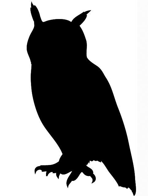 Owl clip art silhouette. Flying clipart panda free