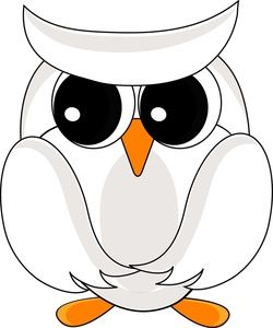 Owl clip art snow owl. Eyes drawing snowy images