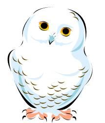 Owl clip art snow owl. Snowy christmas decor pinterest