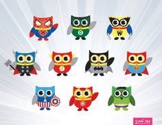 Owl clip art superhero. Digital more superheroes teaching