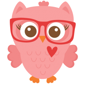Nerdy girl scrapbook cuts. Owl clip art transparent background jpg library library