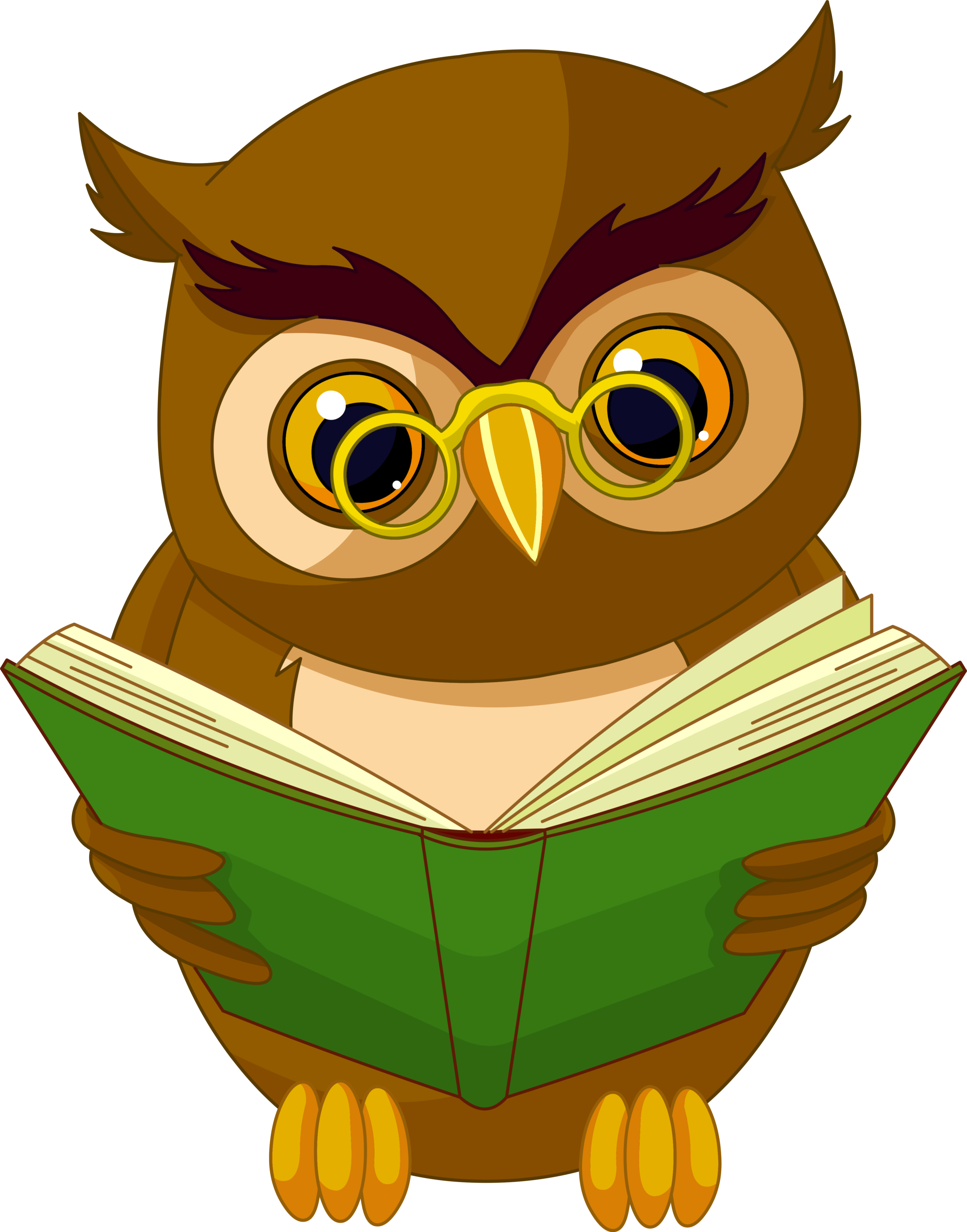 With book png clipart. Owl clip art transparent background image black and white stock