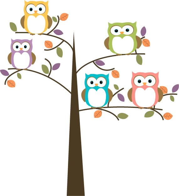 owl clip art tree branch