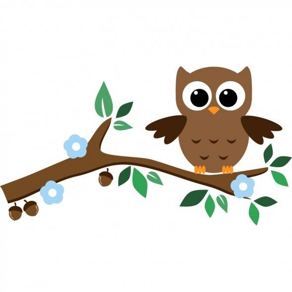 Owl clip art tree branch. Best murals images
