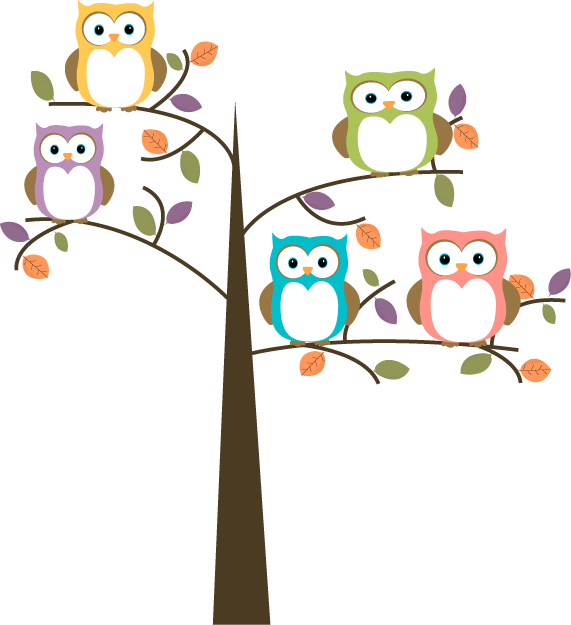 Owl clip art tree branch. Cute in free clipart