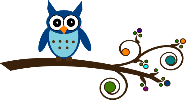 Owl clip art tree branch. Image of branches clipart
