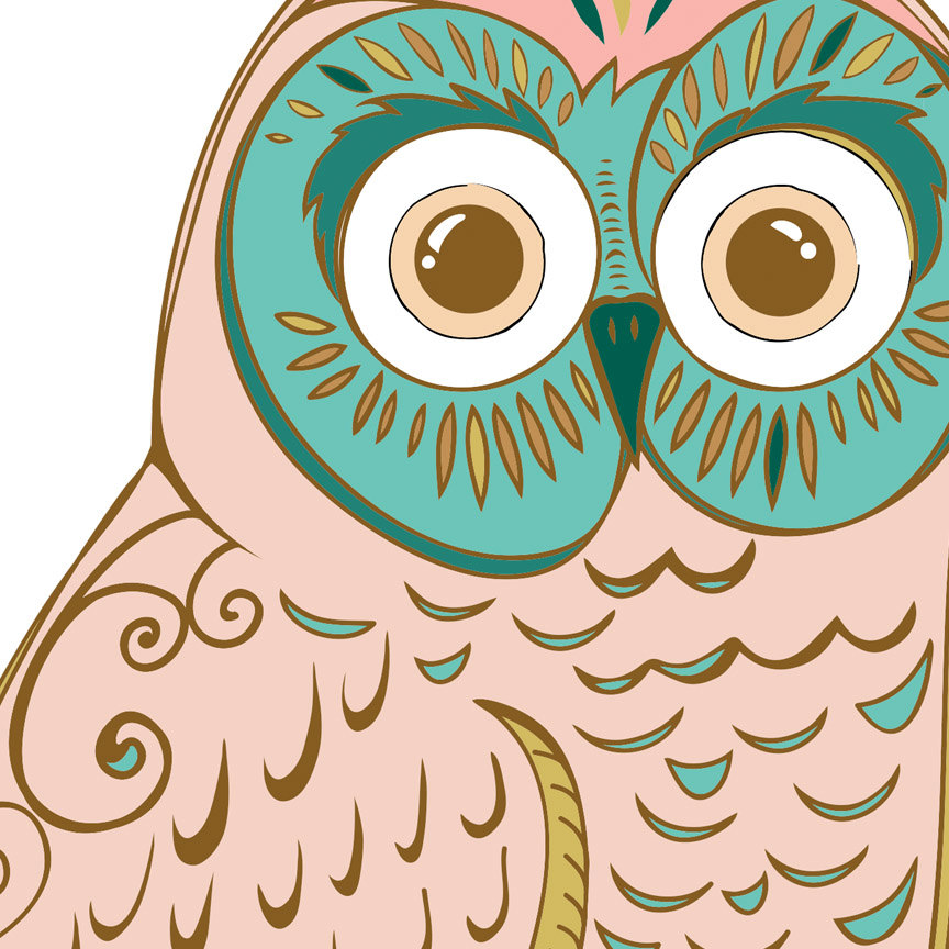 Owl clip art vintage. Whimsical folk clipart royalty