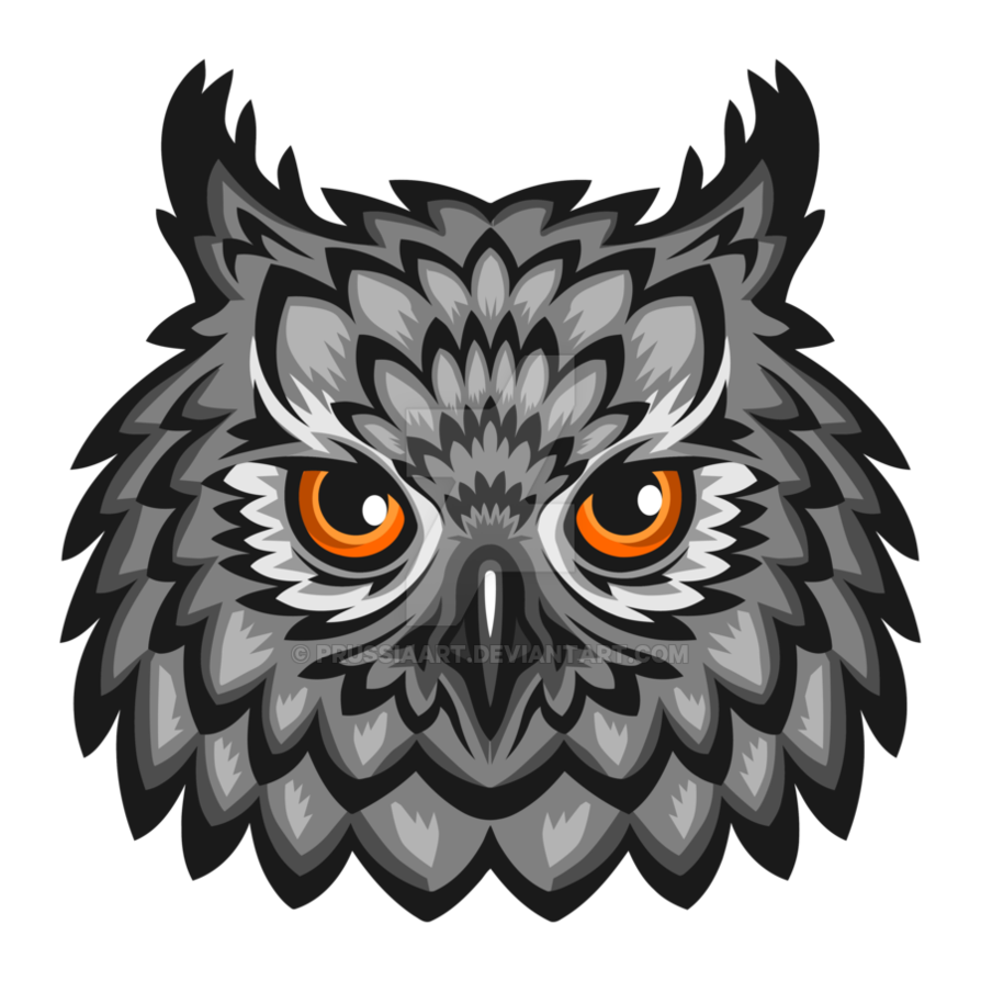 Owl head png. Of an on a
