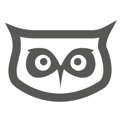 Owl head png. Icon transparent svg vector