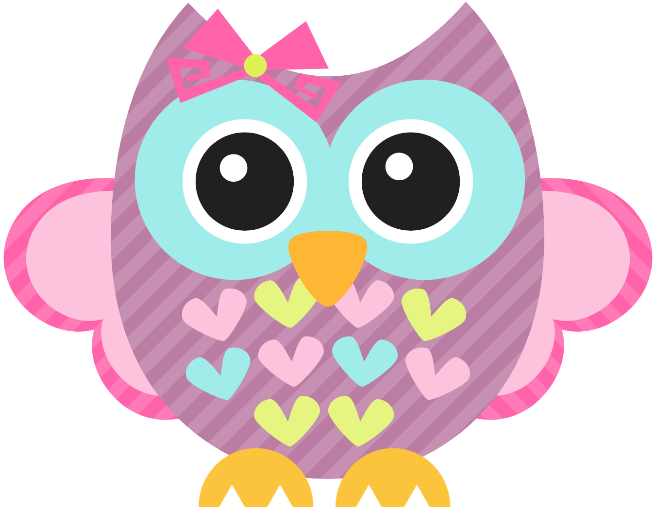 Pink owl png. Photo by daniellemoraesfalcao minus