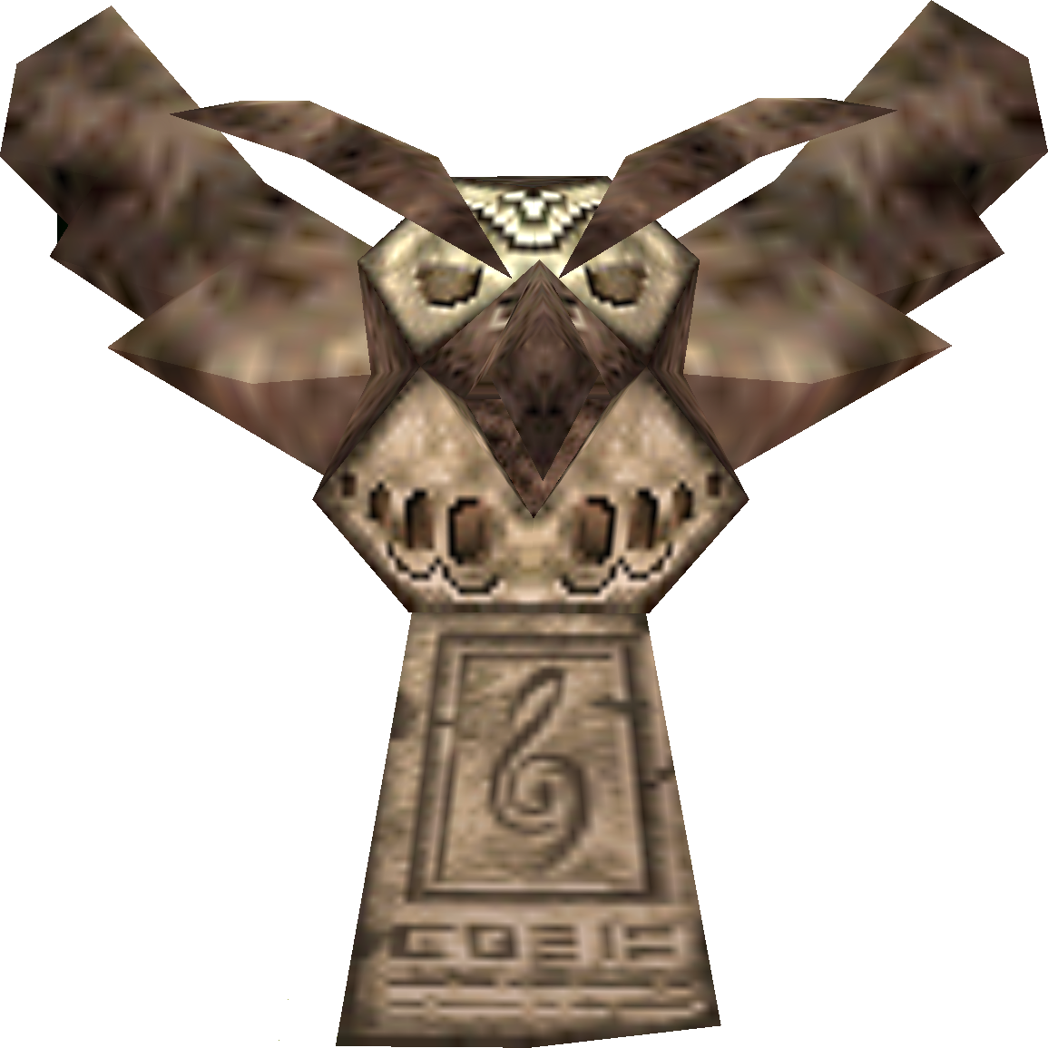 Owl statue png. Image activated majora s
