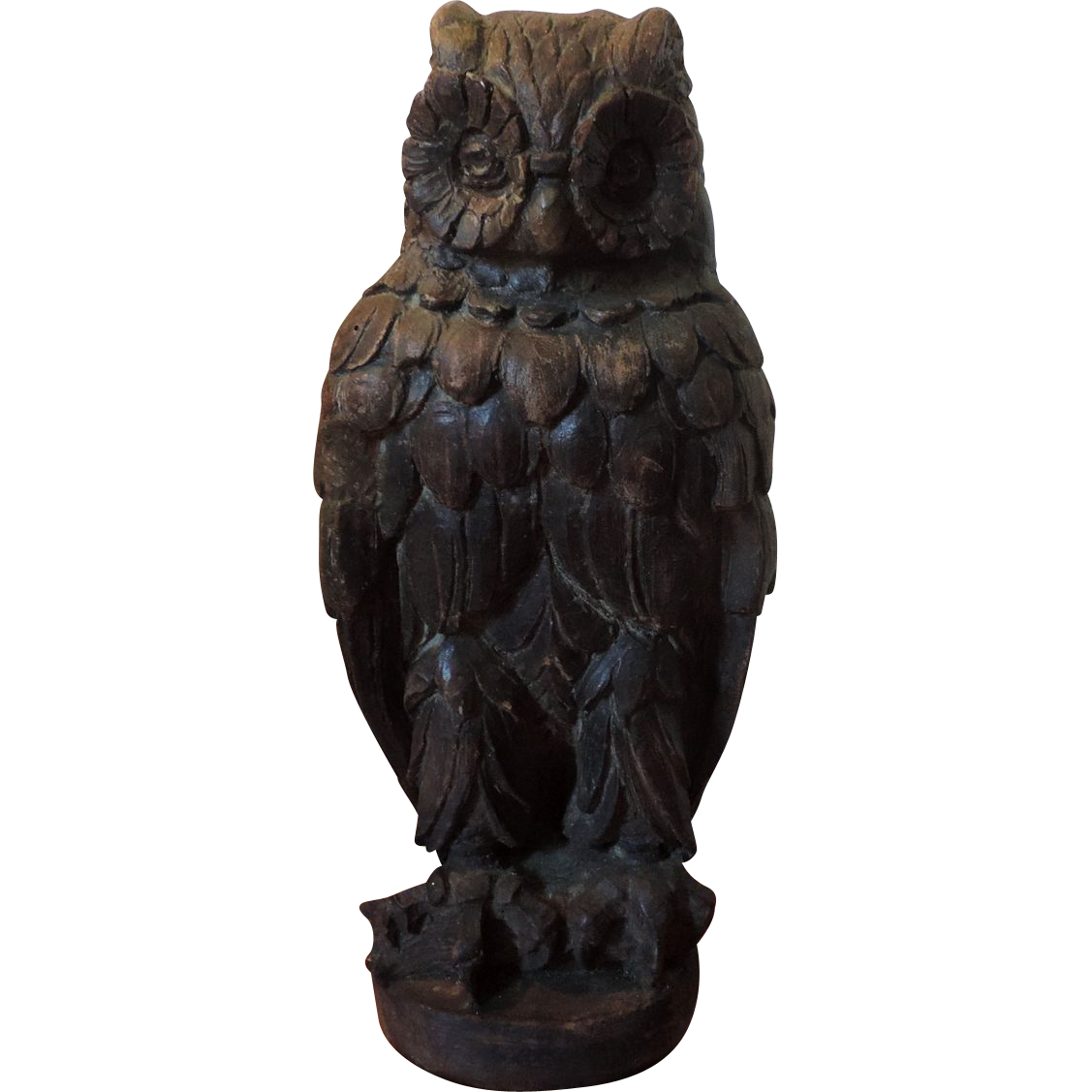 Owl statue png. Antique th century architectural