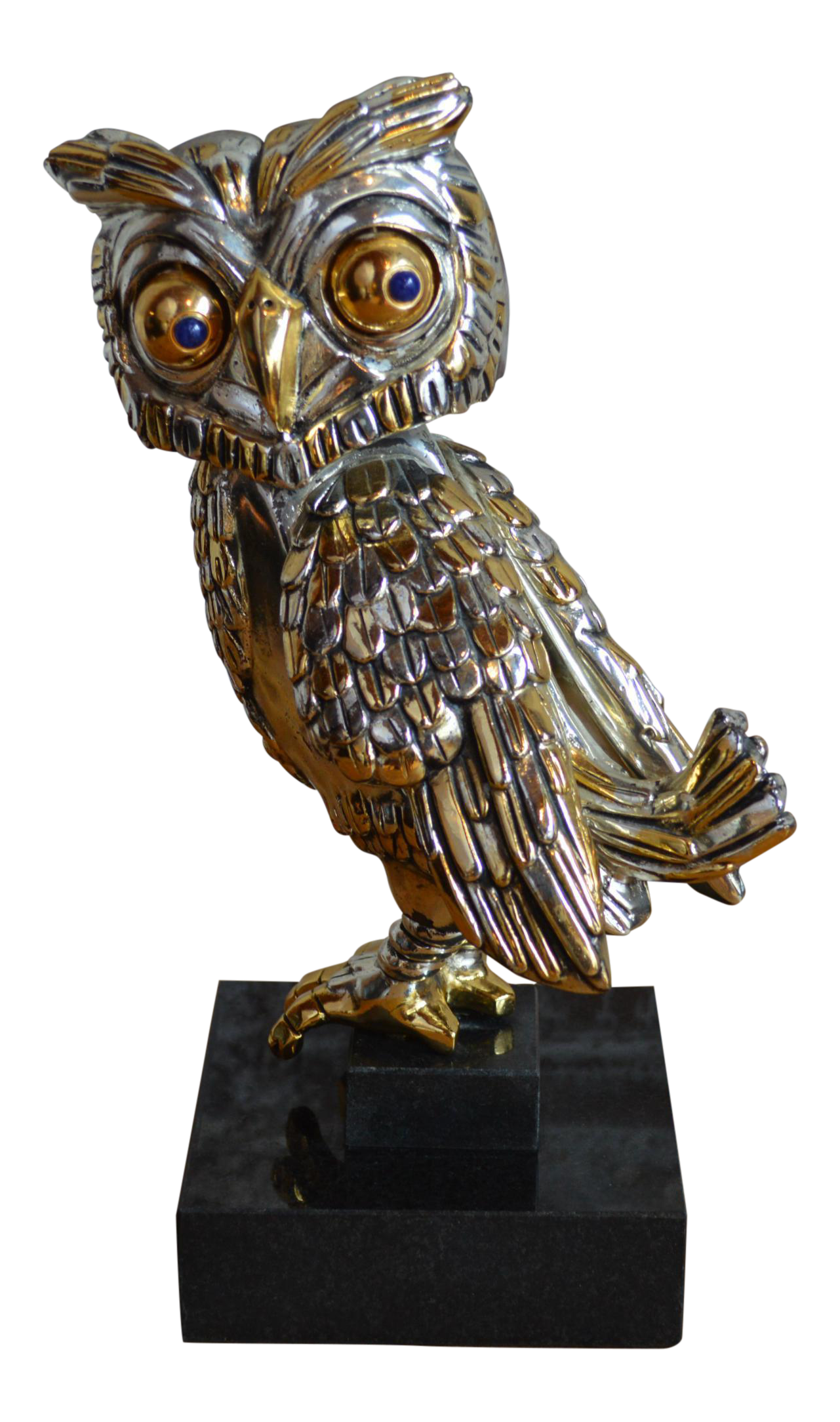 Owl statue png. Frank meisler silver and