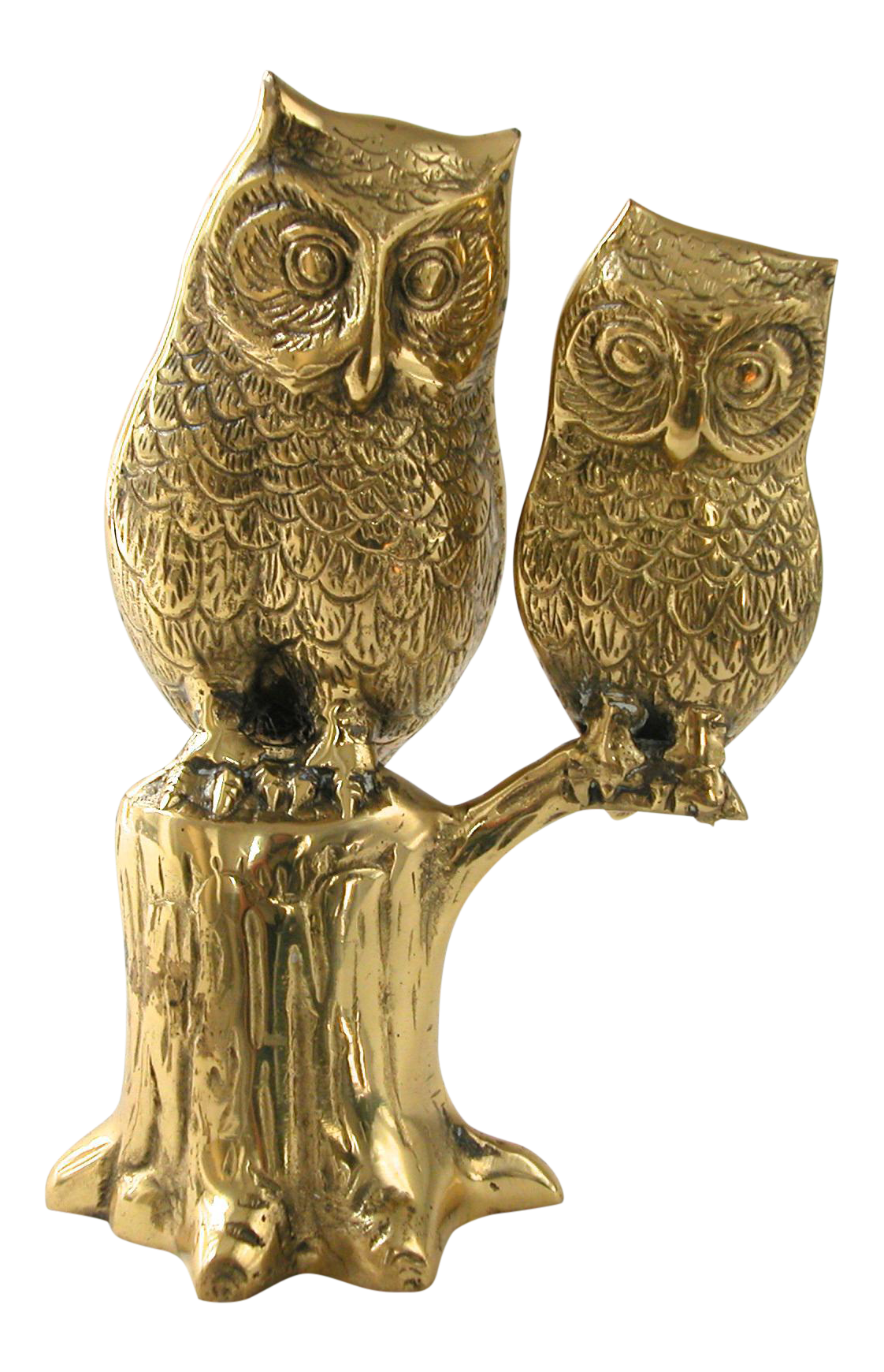 Owl statue png. Large brass chairish