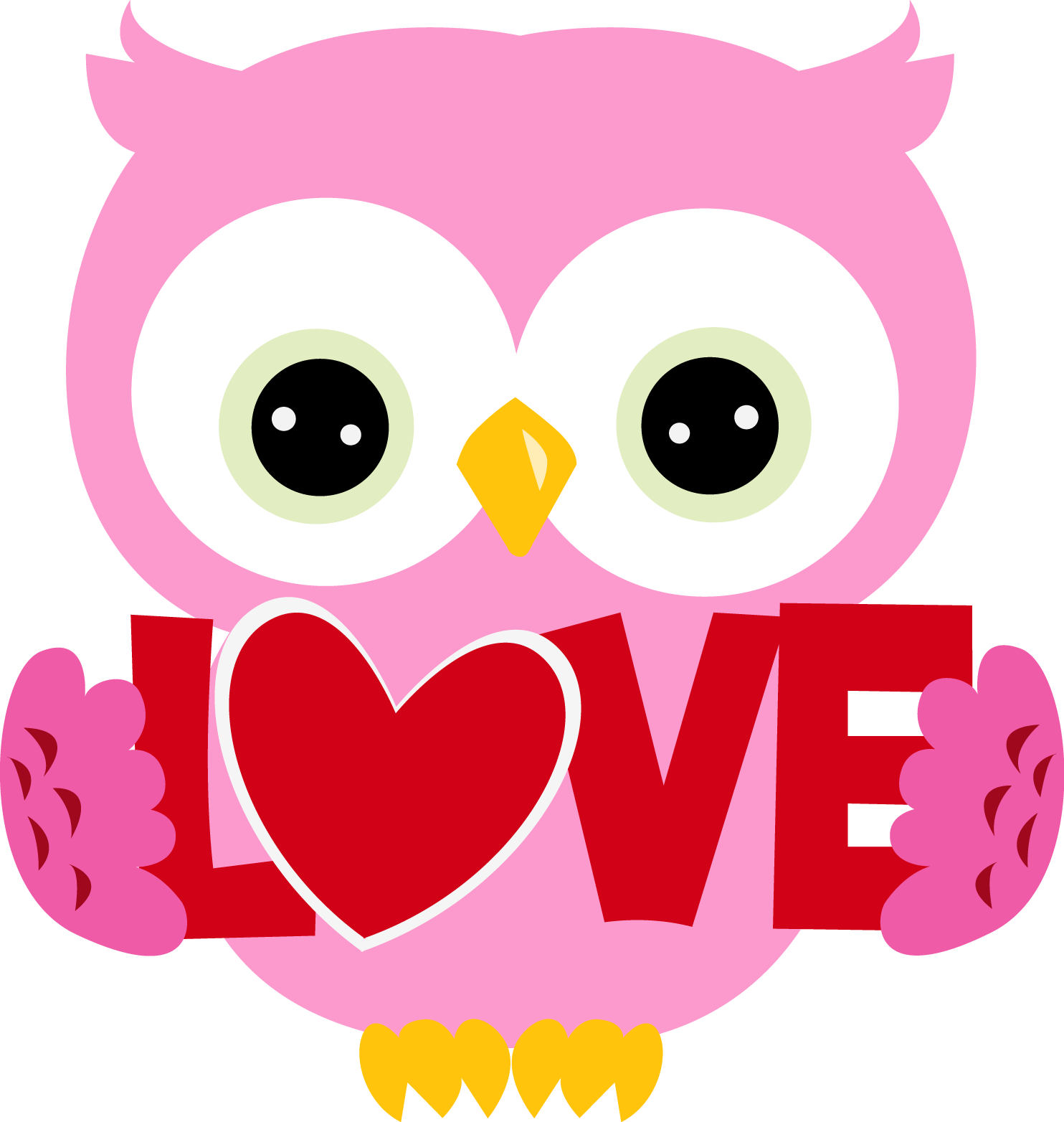 Owls clipart february. Valentine owl letters format