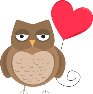 Valentine clipart owl. Free february cliparts download