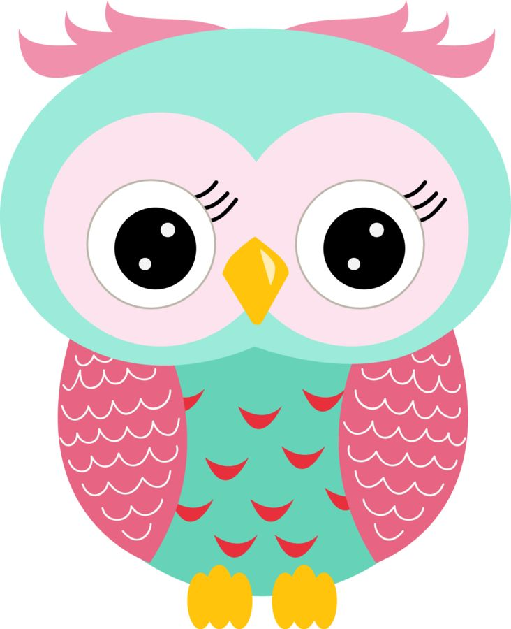 Owls clipart teal. Cute owl at getdrawings