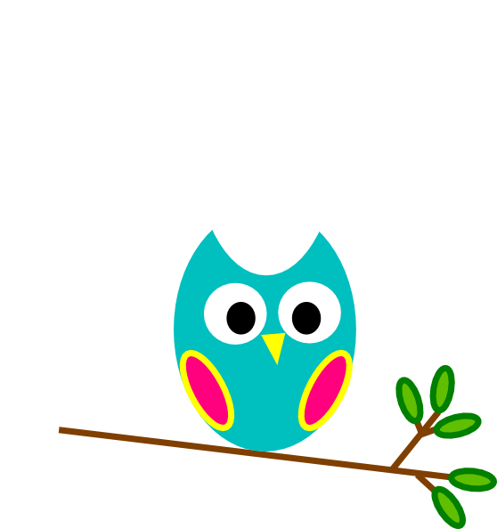 Owls clipart teal. And pink owl clip