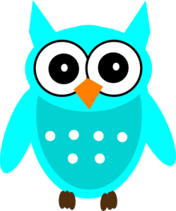 Owls clipart teal. Turquoise owl