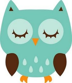 Owls clipart teal. Free download sleeping owl