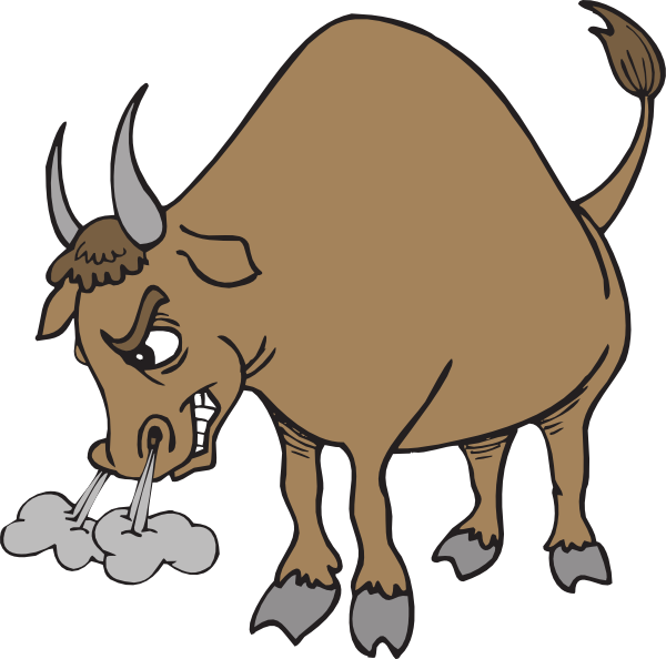 Large clip bull. Ox real looking clipart