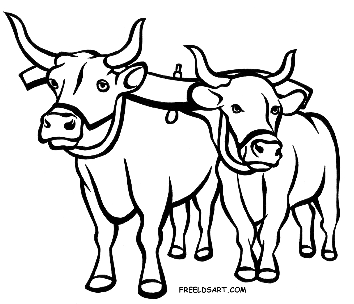 Ox clipart black and white. Two of typegoodies me