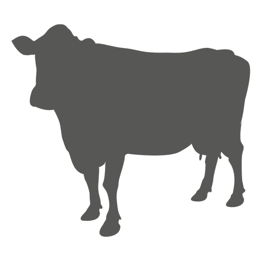 Ox vector. Cow flat icon transparent