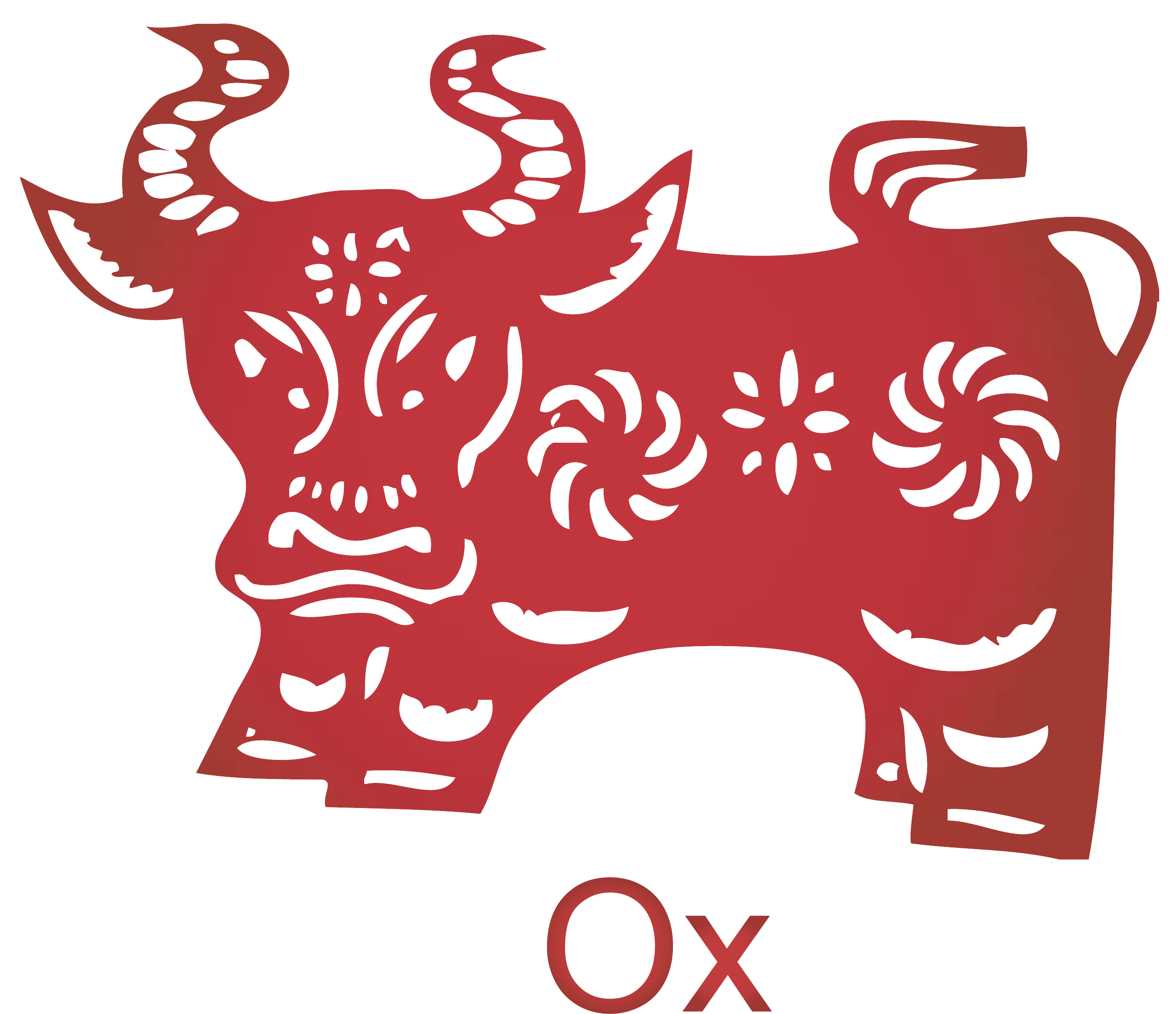 ox vector astrology chinese