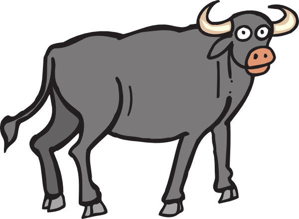 Ox vector black bull. Collection of free calxes