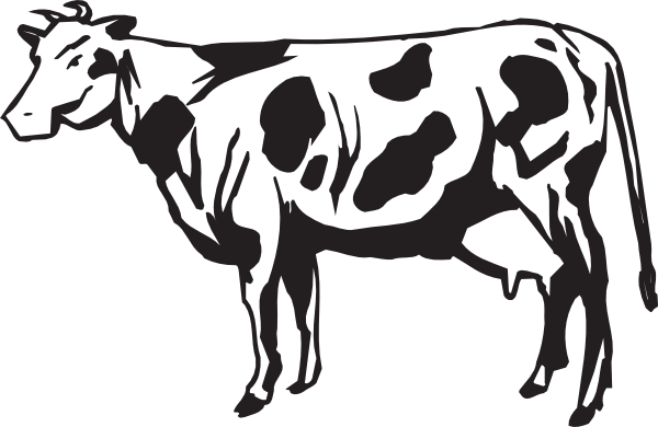 Ox vector side view. Of a cow clip