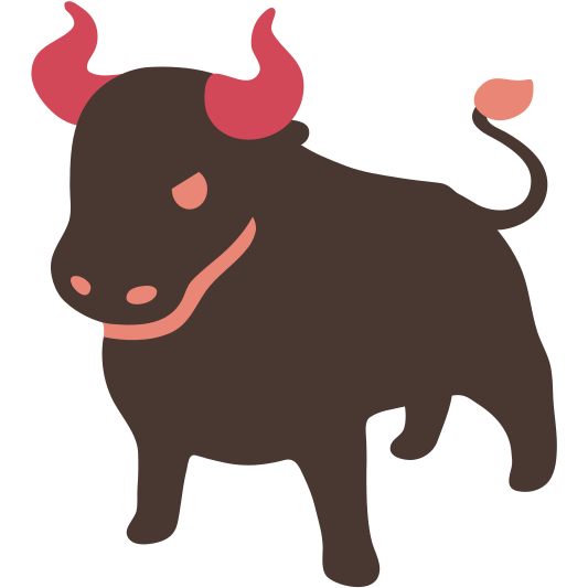 Ox vector. Made with the kwippe