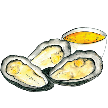 Oyster clipart bivalve. Oysters on the half
