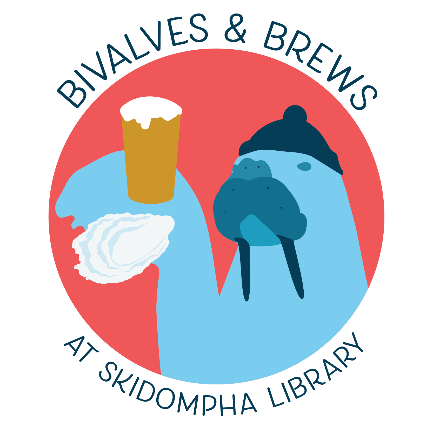 Oyster clipart bivalve. Skidompha bivalves and brews