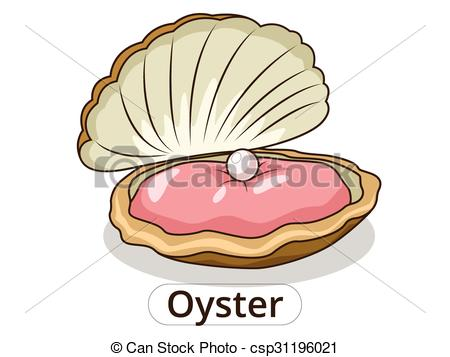 Underwater animal illustration vector. Oyster clipart cartoon image royalty free library