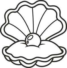 Sea green shell with. Oyster clipart clamshell freeuse download