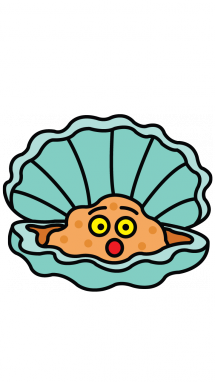 oyster clipart cute