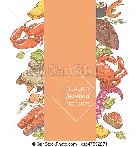 Oyster clipart drawn. Menu design restaurant brochure svg freeuse