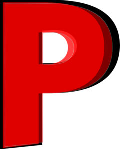 P clipart. Red