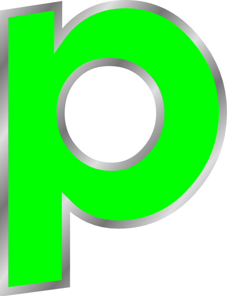 p transparent fancy letter