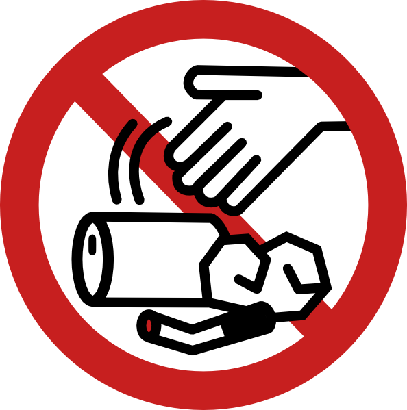 P clipart litter. No littering sign clip