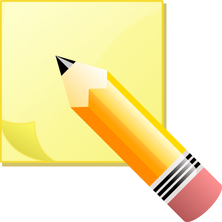 P clipart pencil. Post it note printing